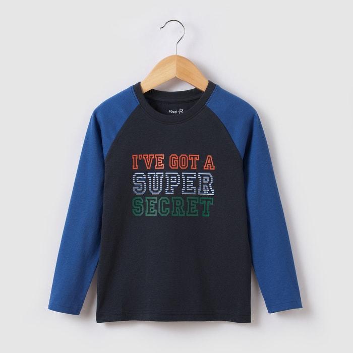 Image T-shirt manches longues à message 3-12 ans abcd'R