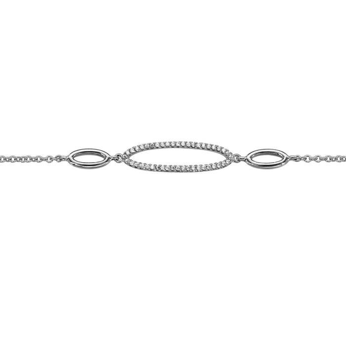 aberdeen Cote De Sécurité De Qualité Bracelet longueur réglable: 16 à 18 cm anneaux oxyde de zirconium blanc argent 925 couleur unique So Chic Bijoux   La Redoute Large Gamme De Vente rBx2Ih7fEl