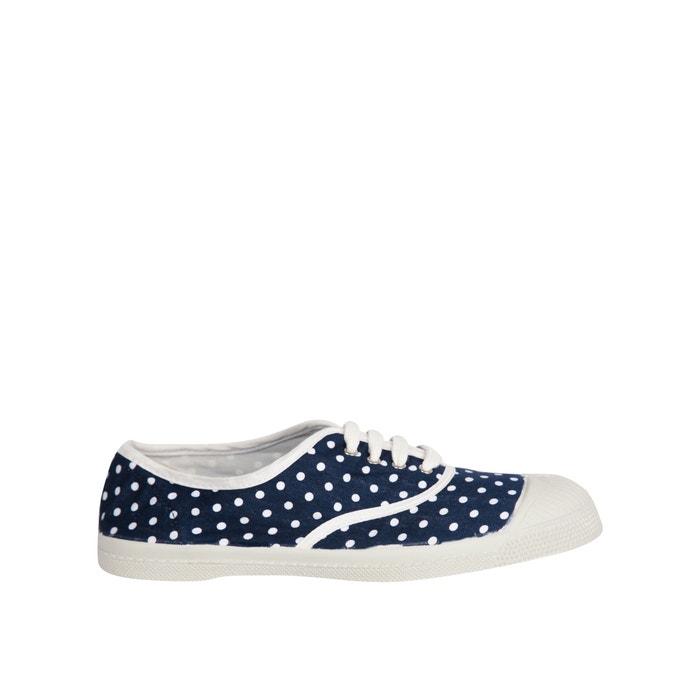a31901cccca Stoffen sneakers met veters, kleine stippenprint marine met stippen  Bensimon | La Redoute