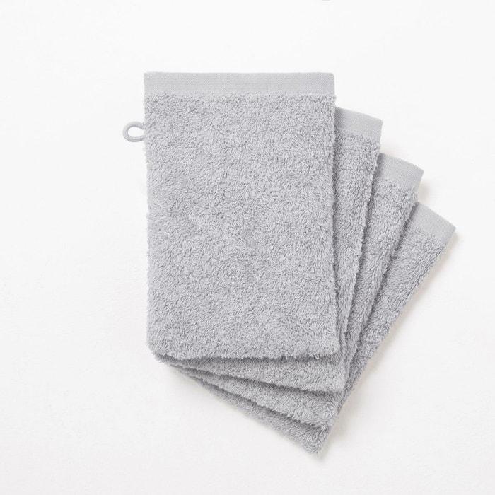 gants de toilette 500 g m lot de 4 scenario la redoute. Black Bedroom Furniture Sets. Home Design Ideas