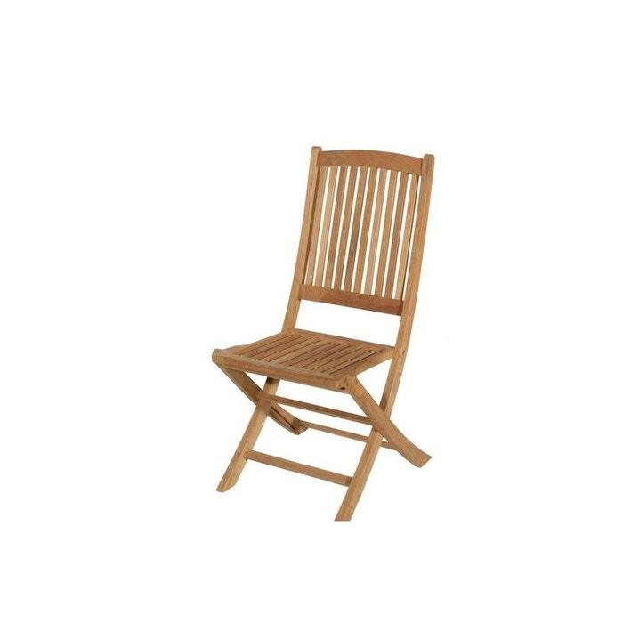 Chaise de jardin en teck brut pliante 99cm summer bois naturel pier import - La redoute chaise de jardin ...