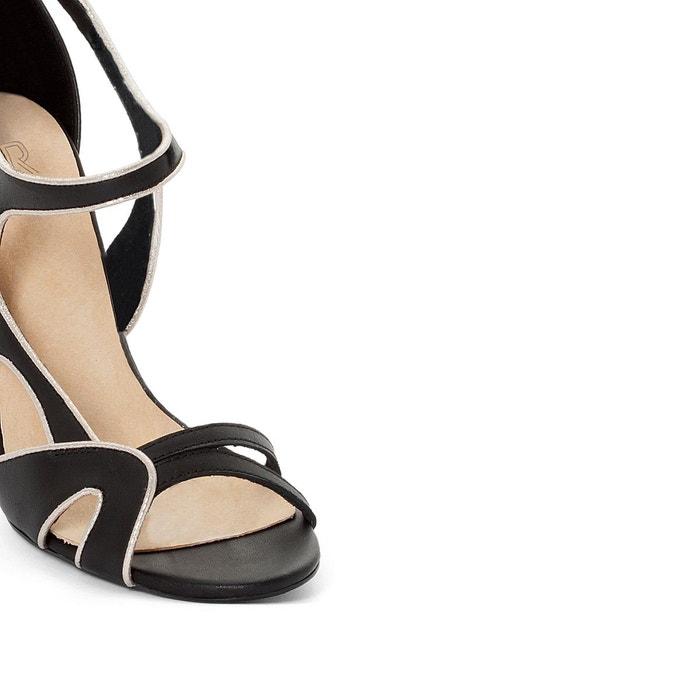 Sandales cuir brides asymétriques - La Redoute Collections - NoirLa Redoute Collections PLjIMCSl