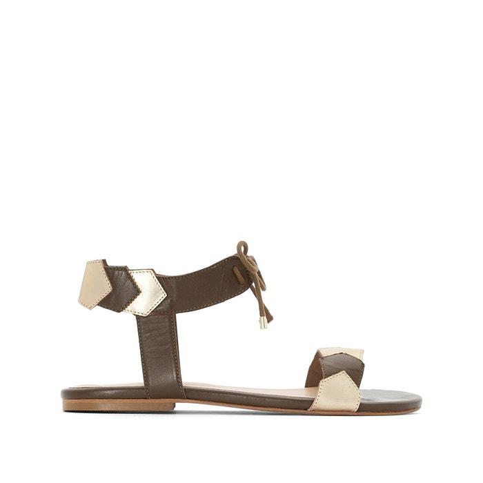 Flat Leather Sandals  CASTALUNA PLUS SIZE image 0