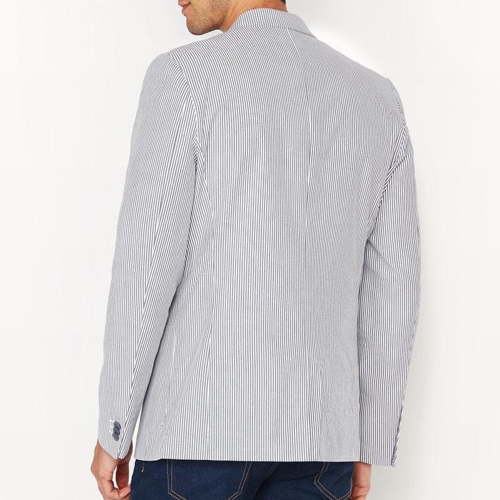 Image Veste de costume rayée coupe slim La Redoute Collections