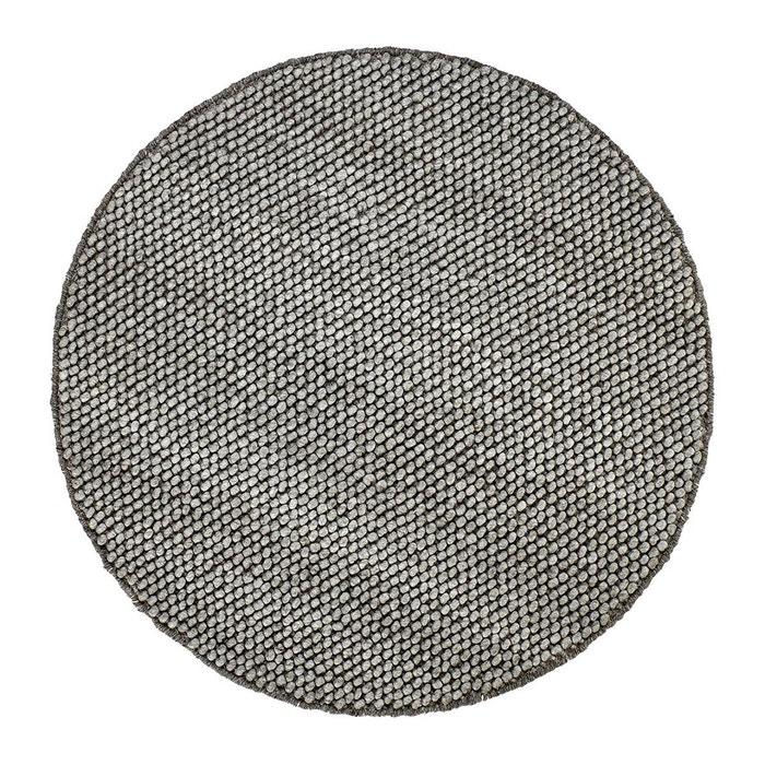 tapis rond m lange laine et viscose taupe deladeco beluga taupe deladeco la redoute. Black Bedroom Furniture Sets. Home Design Ideas