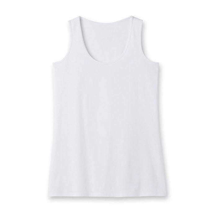 redondo CASTALUNA sin lisa cuello Camiseta mangas de WUzaqB