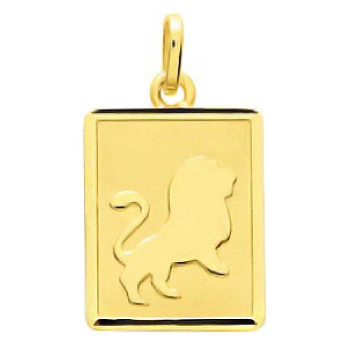 Pendentif zodiaque plaque rectangulaire signe astrologique lion or jaune 750/000 (18 carats) couleur unique So Chic Bijoux | La Redoute Livraison Gratuite Extrêmement Dédouanement Livraison Gratuite Classique Sortie Footaction Vente En Ligne JCWf0Ku