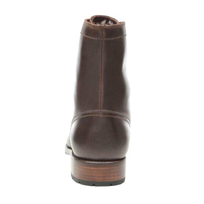 Boots captoe en marron marron foncé Shoepassion