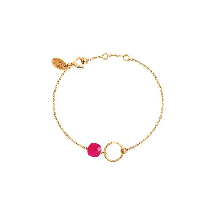 Sortie Boutique En Ligne Bracelet doré onyx rose fidji rose framboise Caroline Najman   La Redoute Sites De Sortie Débouché Réel EXri1d