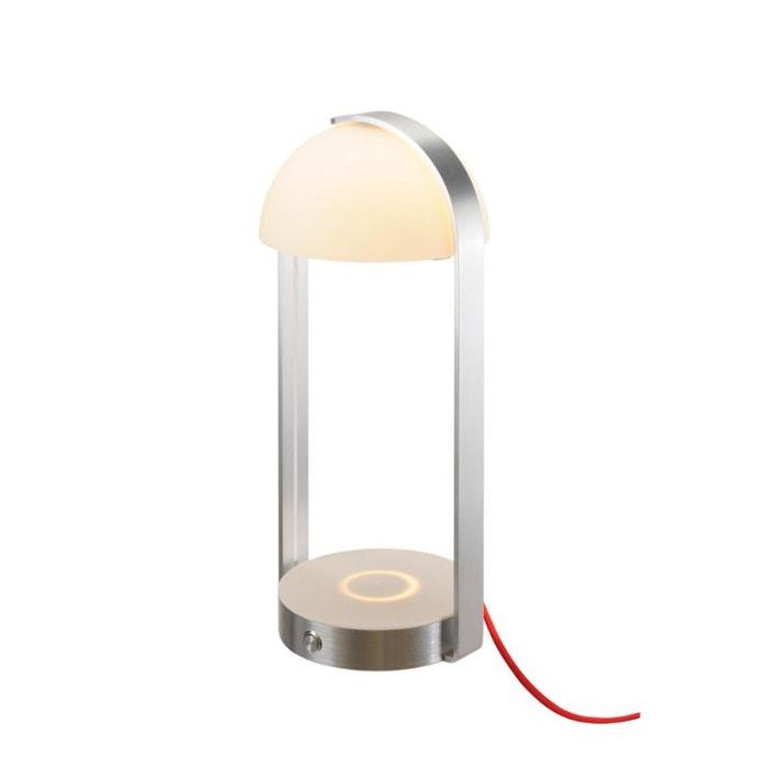 Lampe A Poser Brenda Led 3000k Chargement Sans Fil Argent Argent