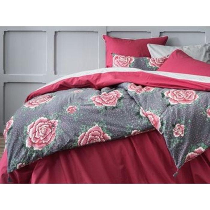 edredon matelass imprim pivoines gris 100 coton gris. Black Bedroom Furniture Sets. Home Design Ideas