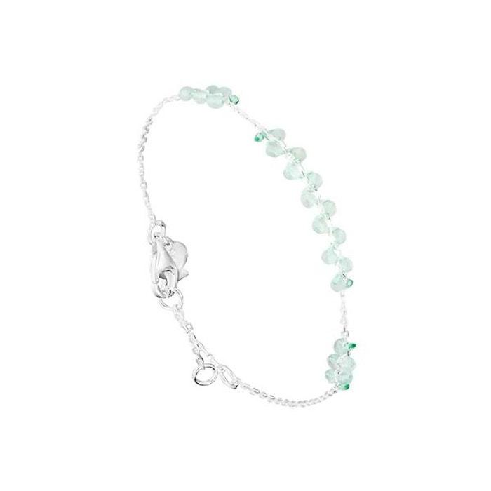 Bracelet chaîne candice en argent 925, aventurine, 1.4g turquoise Clio Blue | La Redoute