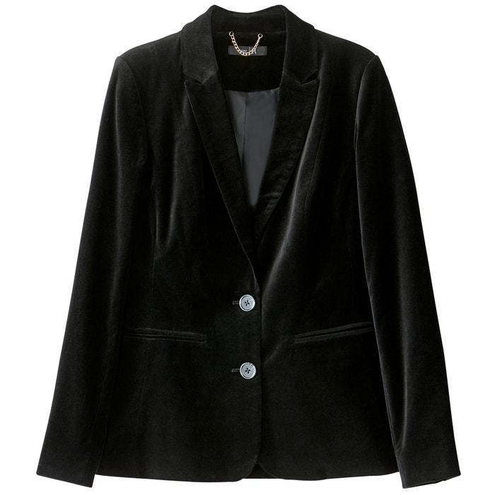 afbeelding Fluwelen blazer jasje La Redoute Collections