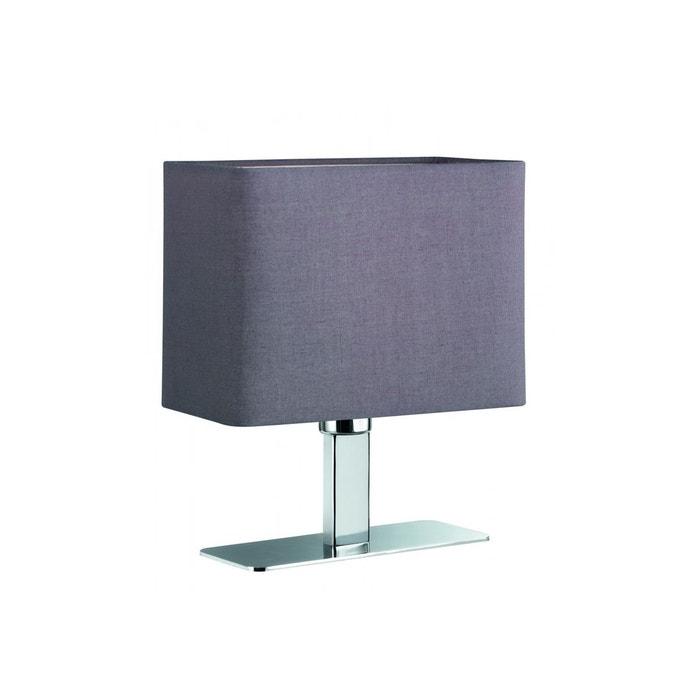 Lampe de table chromée abat jour tissus MING TRIO