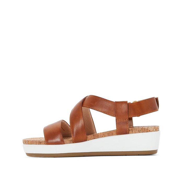 Sandales cuir compensées mykonos w1g camel Pikolinos