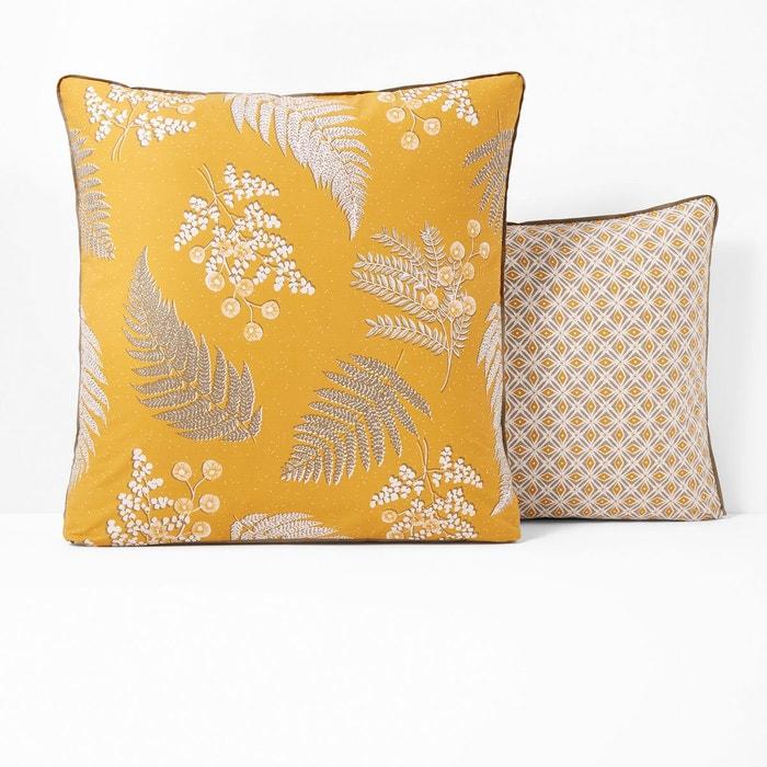 taie oreiller pur coton foug re imprim moutarde la redoute interieurs la redoute. Black Bedroom Furniture Sets. Home Design Ideas