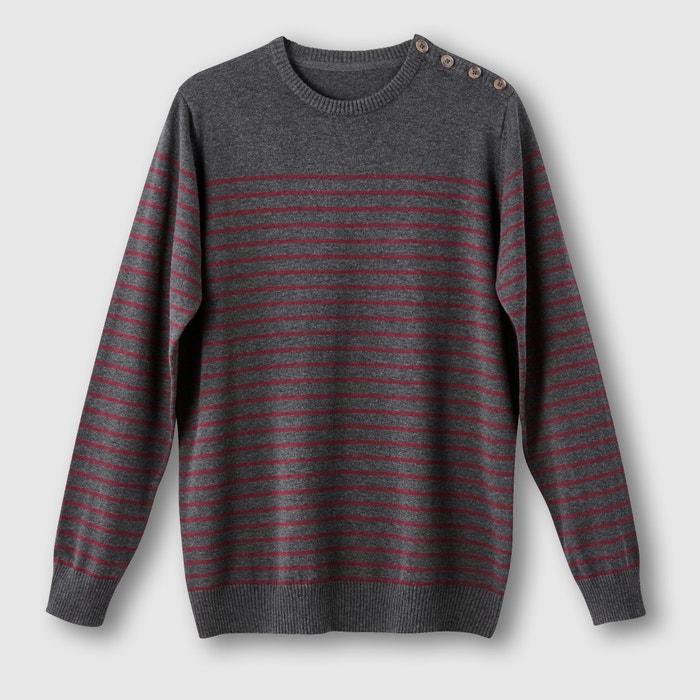 Image Striped Jumper/Sweater with Buttoned Shoulder CASTALUNA FOR MEN