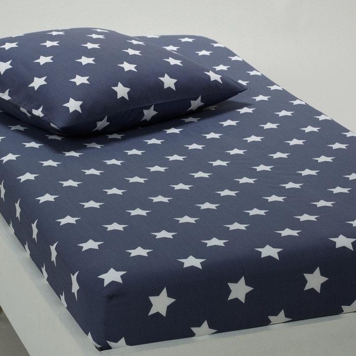 drap housse imprim pur coton navore la redoute. Black Bedroom Furniture Sets. Home Design Ideas