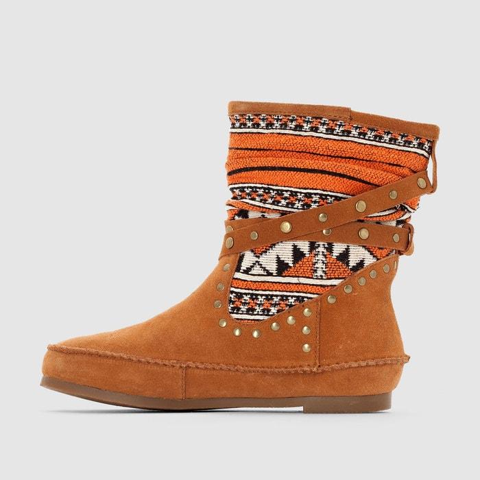 Boots cuir goya camel Les Tropeziennes Par M Belarbi