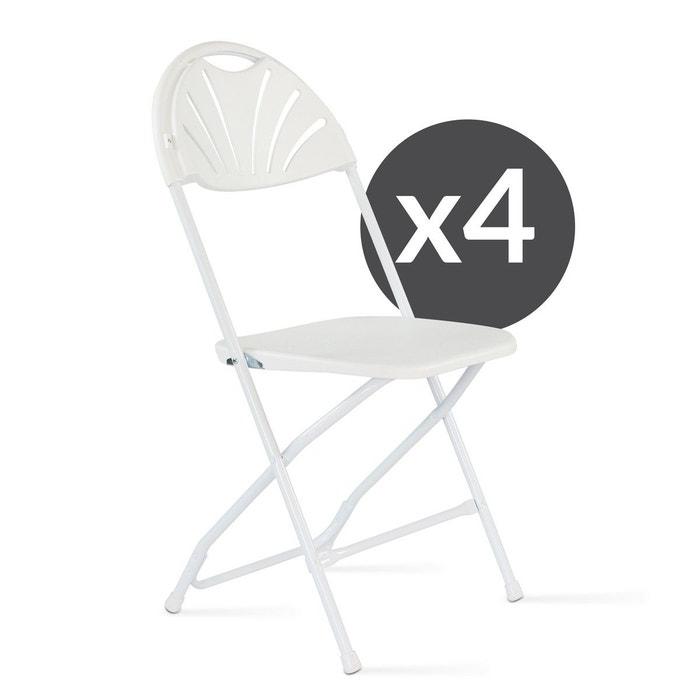 Chaise Pliante Blanche Confortable Lot De 4 Mobeventpro