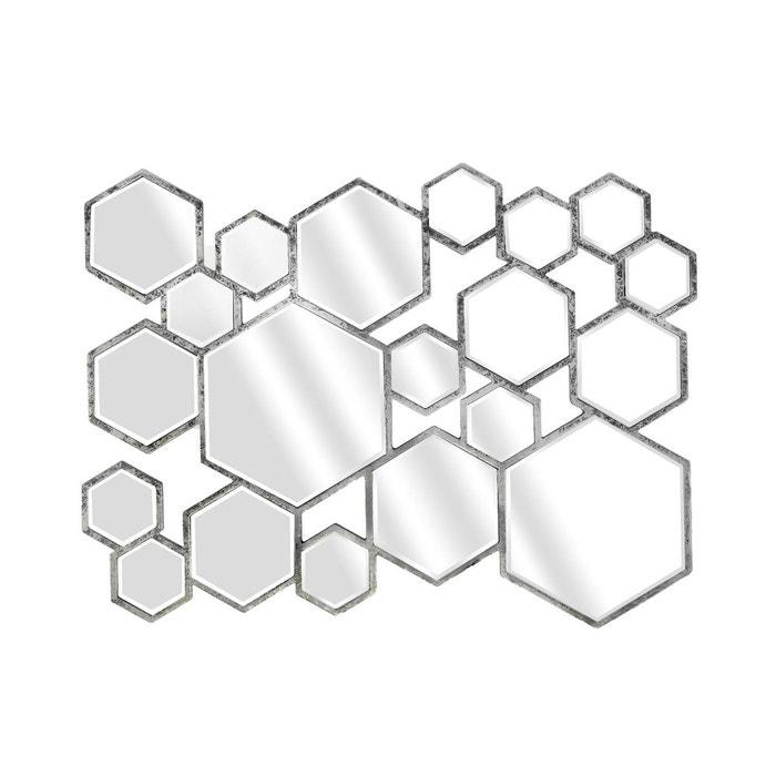 Miroir design multi hexa argent argent emde premium la for Miroir emde deco