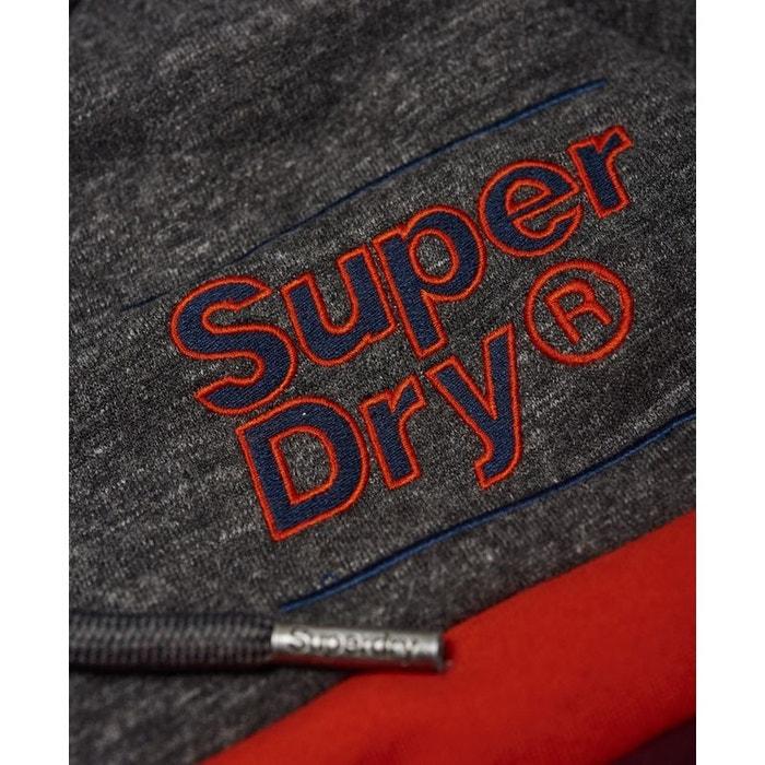 6480152da802 Sweat à capuche à blocs de couleur et badge appliqué Superdry
