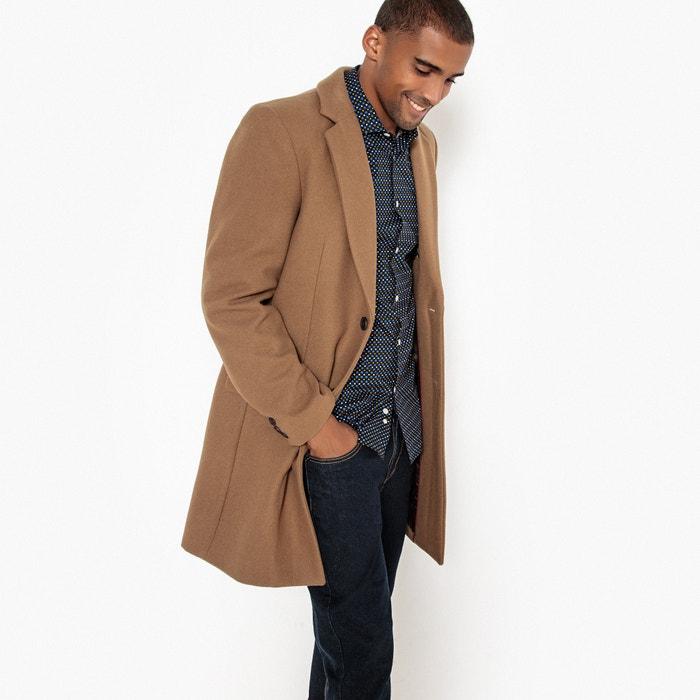 Manteau long drap de laine  La Redoute Collections image 0