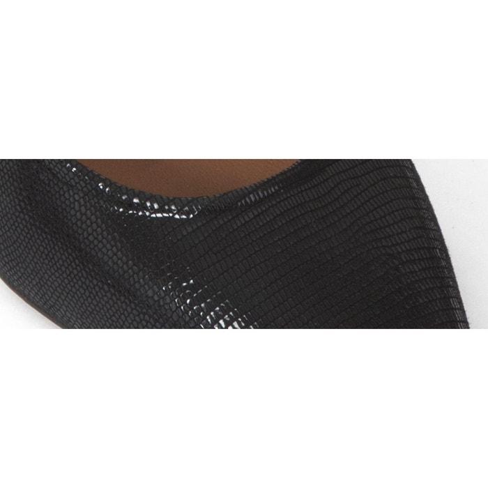 Escarpin etoile noir Heyraud
