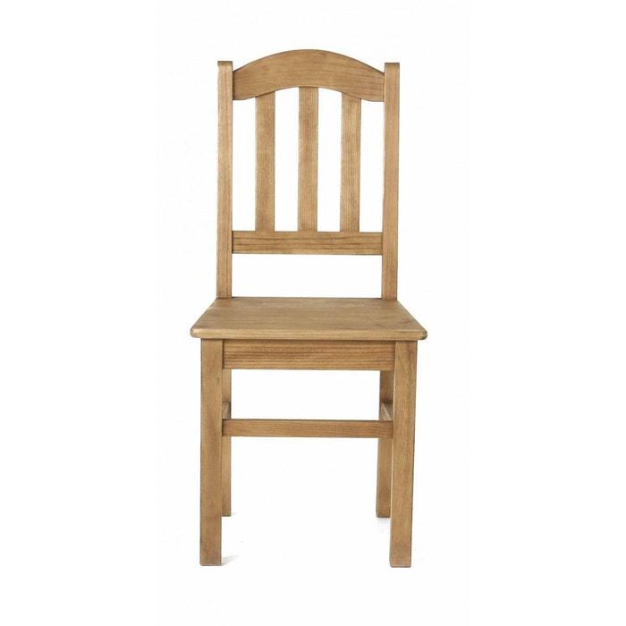 2x chaise rustique pin massif brut r gion couleurs des alpes la redoute. Black Bedroom Furniture Sets. Home Design Ideas