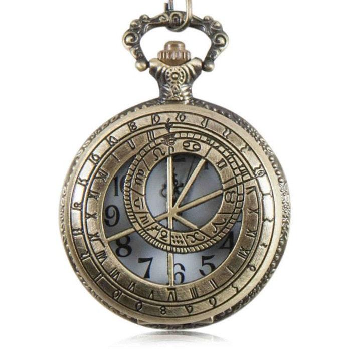 Super Montre gousset vintage à l'astrolabe chaîne gousset - homme Exotic  CY54