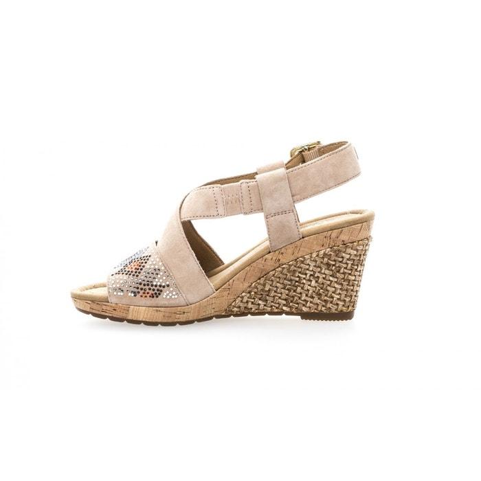 Sandales compensées beiges beige Gabor