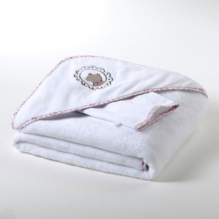 Image Child's Unisex Cotton Towelling Bath Cape and Mitt, 400 g/m² R baby