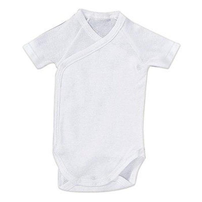 Bornino body de naissance manches courtes bébé blanc Bornino  ce8c5f9a65c
