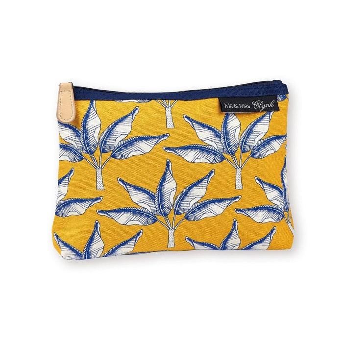 trousse maquillage palmiers mr mrs clynk jaune mr et mrs clynk la redoute. Black Bedroom Furniture Sets. Home Design Ideas