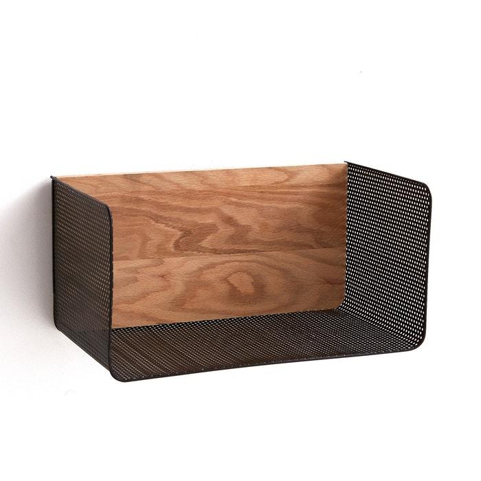bureau etag re ordonato zwart metaal eik am pm la redoute. Black Bedroom Furniture Sets. Home Design Ideas