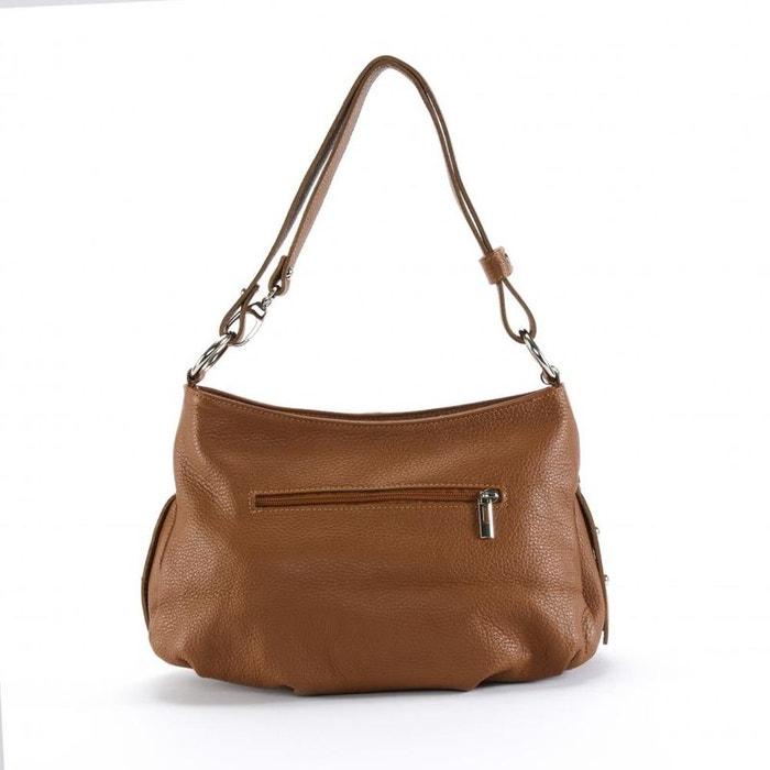 cb4339bbcd Sac à main en cuir avec pompon lobe Oh My Bag | La Redoute
