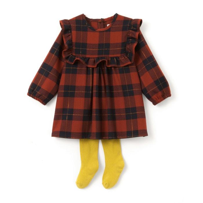 Conjunto de vestido y leotardos 1 mes - 3 años  La Redoute Collections image 0