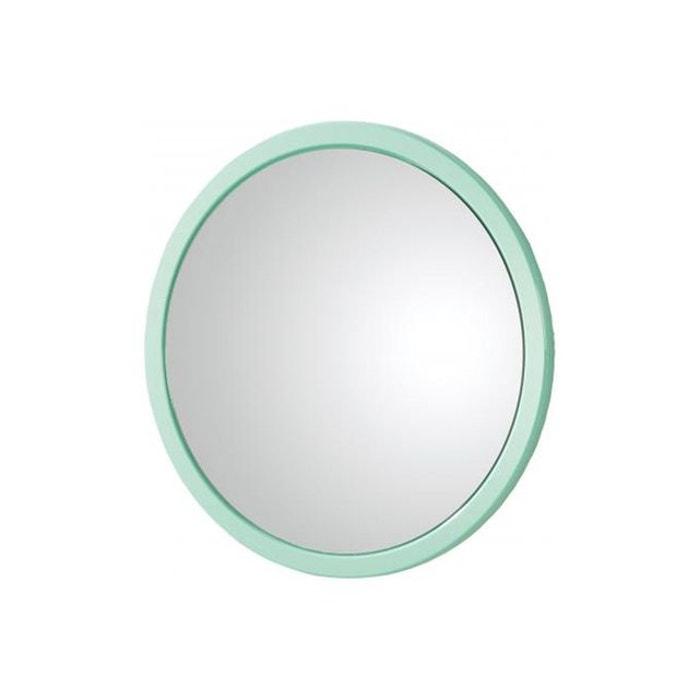 Miroir rond vert clair livia couleur unique declikdeco for Miroir rond eclairant