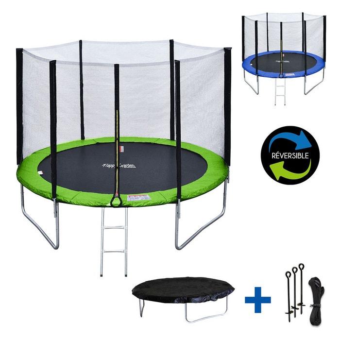 trampoline 305cm ad la de b che et kit d 39 ancrage vert happy garden la redoute. Black Bedroom Furniture Sets. Home Design Ideas
