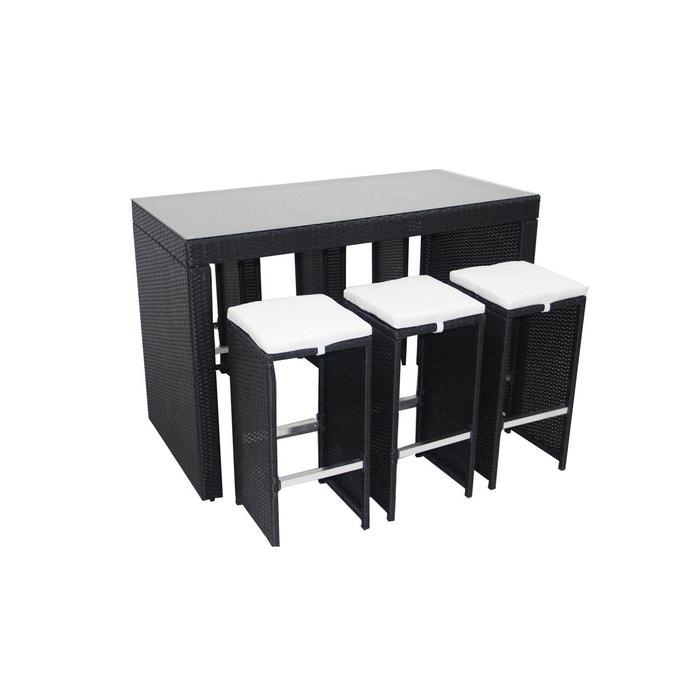 table de jardin haute et 6 tabourets en r sine tress e oviala la redoute. Black Bedroom Furniture Sets. Home Design Ideas
