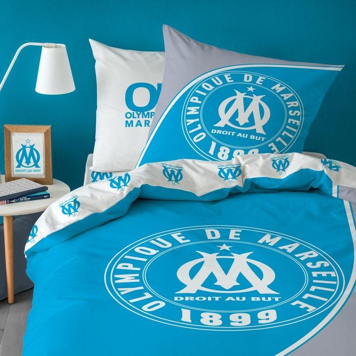 Parure Housse De Couette Polycoton Om Bleu Olympique Marseillais