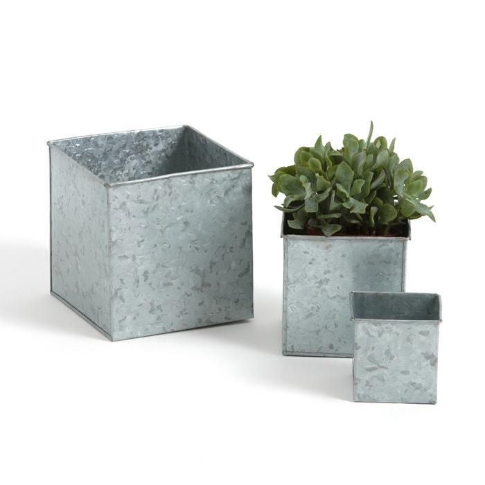 3er set aufbewahrungsboxen galvanisiertes metall. Black Bedroom Furniture Sets. Home Design Ideas