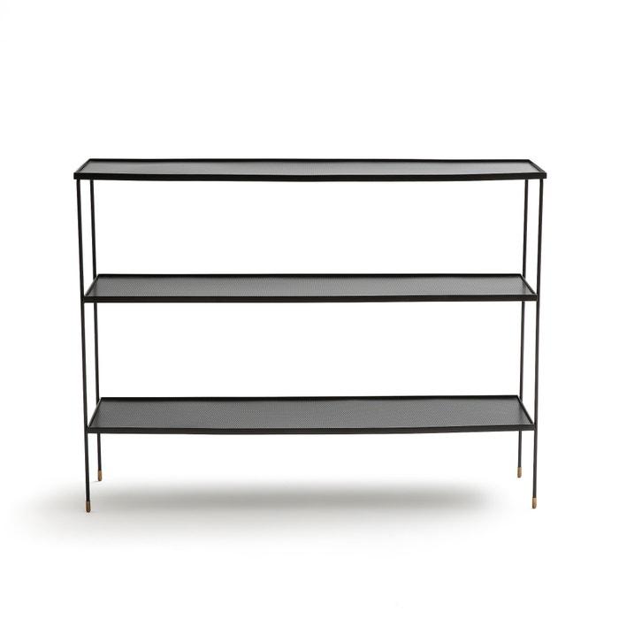 console triple plateau m tal lungelo noir am pm la redoute. Black Bedroom Furniture Sets. Home Design Ideas