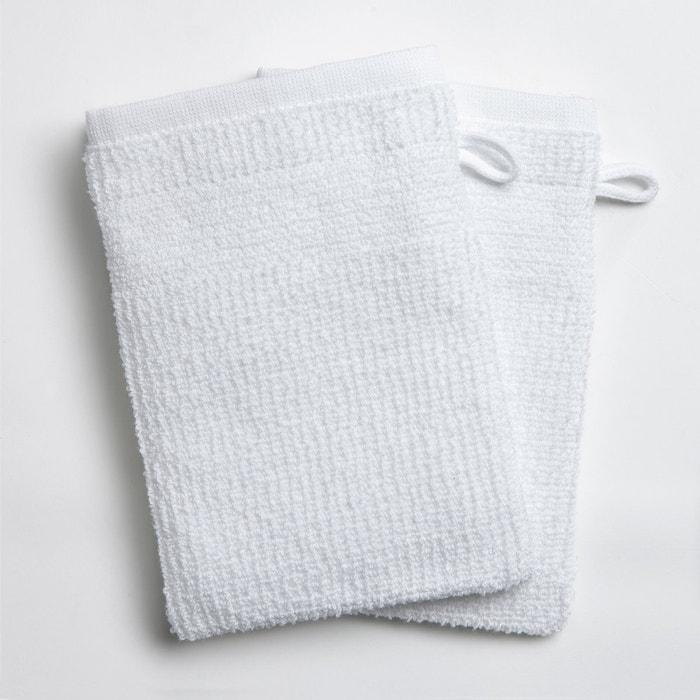2er-Pack Waschhandschuhe, Reiskornoptik, 400 g/m²  La Redoute Interieurs image 0