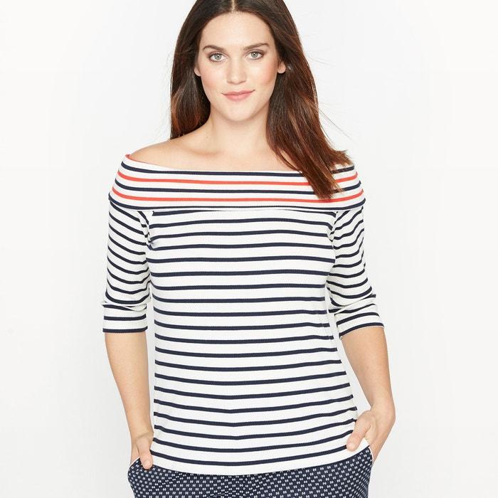 Image T-shirt marinière col bateau CASTALUNA