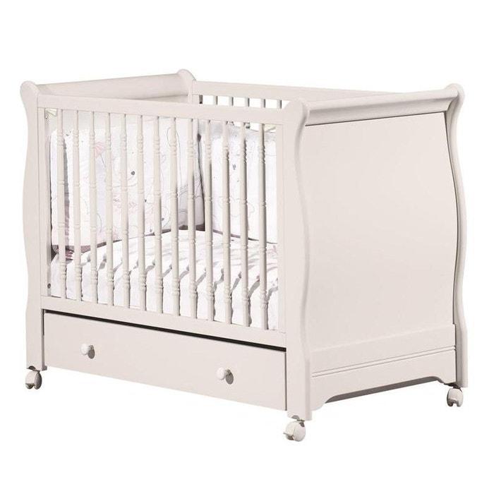 lit bebe 60x120 galerie coulissante elodie gris sauthon meubles couleur unique sauthon la. Black Bedroom Furniture Sets. Home Design Ideas