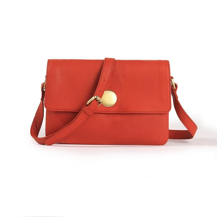 Image Leather Handbag La Redoute Collections