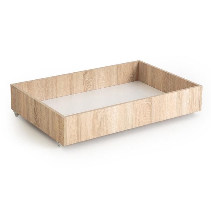 Z Bed Beech Finish Under Storage Box Light Wood La Redoute Interieurs