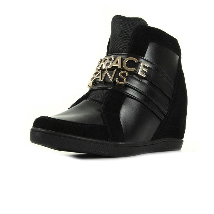 Linea sneaker suede/coated noir, doré Versace