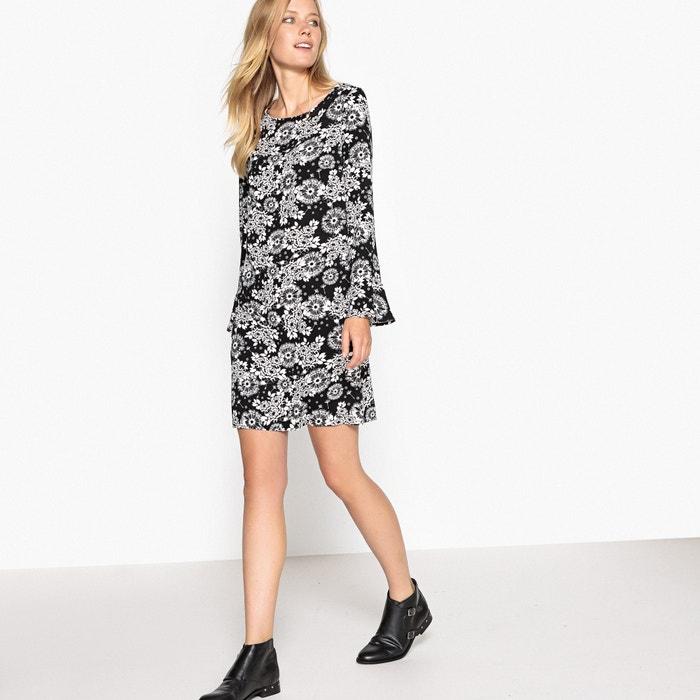 afbeelding Korte jurk met bloemenprint La Redoute Collections
